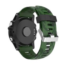 Killerdeals Silicone Strap For Fenix 3 3HR 5X - Camo Green & Black