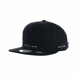 Withmoons Snapback Hat Thuglife Embroidery Hiphop Baseball Cap AL2862 Black