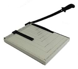 """Paper Cutter Guillotine Style 10"""" Cut Length X 10"""" Inch Metal Base Trimmer"""