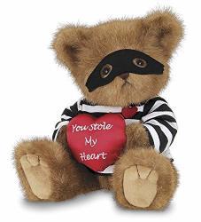 Bearington Collection Bearington Lawless Lover Valentines Stuffed Animal Teddy Bear With Heart 10 Inches