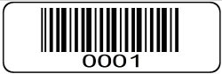 """Trek Label 1000 Label Roll 0001 Through 1000 Serial Number Barcodes 1-1 2"""" X 1 2"""" Sequential Bar Code Stickers - Consecutive Number Set 1"""