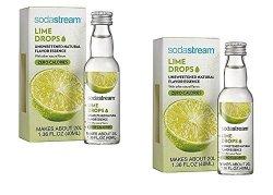 Soda Stream Fruit Drops Lime Flavor 1.36 Fl Oz Pack Of 2