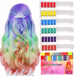 Kyerivs Hair Chalk Combs Bright Temporary Metallic Glitter Hair Color For Kid Girls Dyeing Party And Cosplay Diy Festival Dress R705 00 Haircare