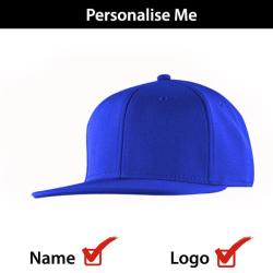 King Caps Topfit Birds Eye Flat Peak Snapback Cap - Royal Blue