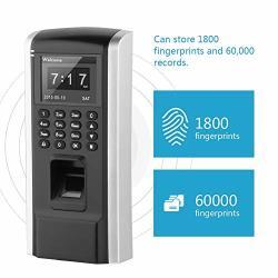 Oumij Wifi Biometric Fingerprint Time Clock F8 Fingerprint Access Control Employee Time Attendance 2.4 Inches Tft Screen Access Controller