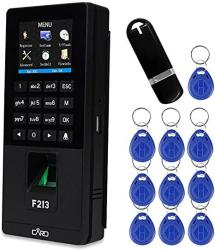 Libo Biometric Fingerprint Recognition Rfid Access Controller Time Attendance Machine Employee Checking-in Payroll Recorder U-disk DOWNLOAD UPLOAD+10