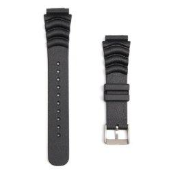 20MM 22MM BLACK Sport Scuba Diver Rubber Watch Band Strap
