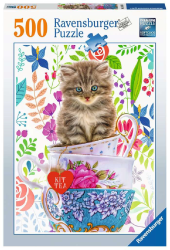Teacup Kitty 500 Piece Puzzle