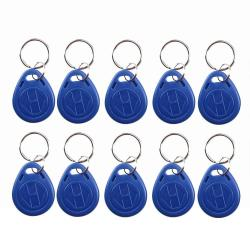 LIBO Smart Home Libo Writable Rfid Keychains 125KHZ T5577 Nfc Token Proximity Id Access Control Key Fob Tags Card Programable Blue Color Pack Of 50
