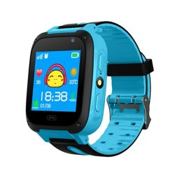 Q9 Gps Kids Smart Watch With 2 Way Call Stepcounter & Sos Calling Blue - Lbs Tracking
