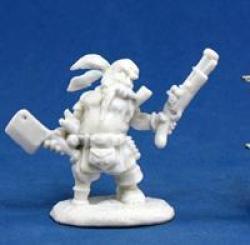 Reaper Miniatures Bones: Gruff Grimecleaver Dwarf Pirate Miniatures