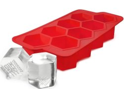 Gin Tribe - Ginsanity Cool Mega-hex Ice Tray For Gin Whisky Brandy Spirits - Red - G