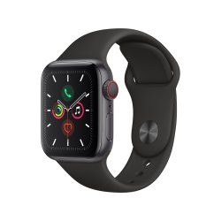 SPACE 40MM Grey Aluminium Case With Black Sport Band - Series 5 Gps + Cellular