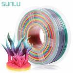 SUNLU Rainbow Pla Filament 1.75MM 3D Printer Rainbow Filament Multicolor Pla Filament For 3D Printers And 3D Pens 1KG Per Spool