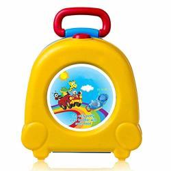 Llvv Baby Toilet Cute Portable Travel Baby Potty Car Squatty Potty Child Pot Training Girls Boy Potty Kids Toilet Seat Children's Pot Yellow