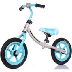 LITTLE BAMBINO Balance Bike With Adjustable Seat- Blue And Grey