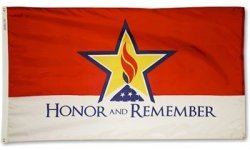 Honor And Remember - 2' X 3' Nylon Flag