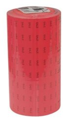 Centurion Inc 2 Line Red Label Fits Monarch 1136 Handheld Price Labeler Black