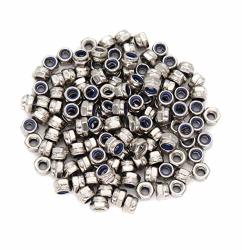 Cseao 100PCS M3 Nylon Inserted Self Locking Nuts 304 Stainless Steel