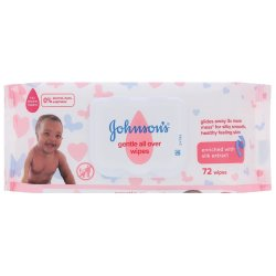 Johnsons - Gentle All Over Wipes 72'S