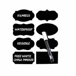 Gonikm Chalkboard Blackboard Labels Stickers With Pen Removable Vinyl Labels Wallpaper