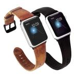 Kades For Apple Watch Band 42MM Leather For Apple Watch Band 44MM Series 4 Iwatch Bands 42MM Brown And Coffee With Black Hardwar