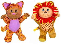 "Cabbage Patch Zoo Friends Cuties - 9"" Tallulah Tiger & Austin Lion - Collectable Dolls"