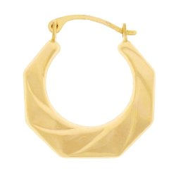BONDED GOLD - Twist Line Creole Earring