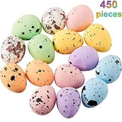 Fiada 450 Pieces Easter Multicolor Speckled Decorative Foam Eggs Ornaments For Crafts Diy Home Garden Decor 0.6 X 0.7 Inch