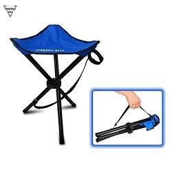 WINOMO Portable Folding Tripod Stool Three Legged Stool Chair for Outdoor Camping Hiking Fishing Green