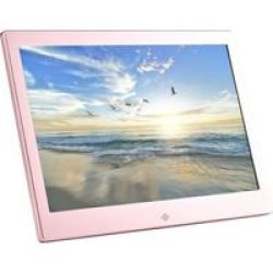 Fotomate FM425M 13 Hi-res Digital Photo Frame Metallic Rose Pink