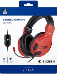 BigBen Interactive - Stereo Gaming Headset - Red PS4
