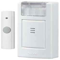 Broan-NuTone Nutone LA224WH Plug-in Door Chime Kit With Strobe Light 3-3 4W X 4-1 2H X 1-5 8D