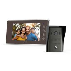 TILVIEW Video Door Phone Kit Video Doorbell Waterproof IP44 Wired Video Intercom System With Night Vision Camera And 7 Inch Lcd Monitor 16 Chimes An