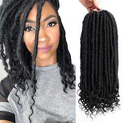 Sl Vrhot 6packs 14 Straight Goddess Locs Crochet Hair Braids