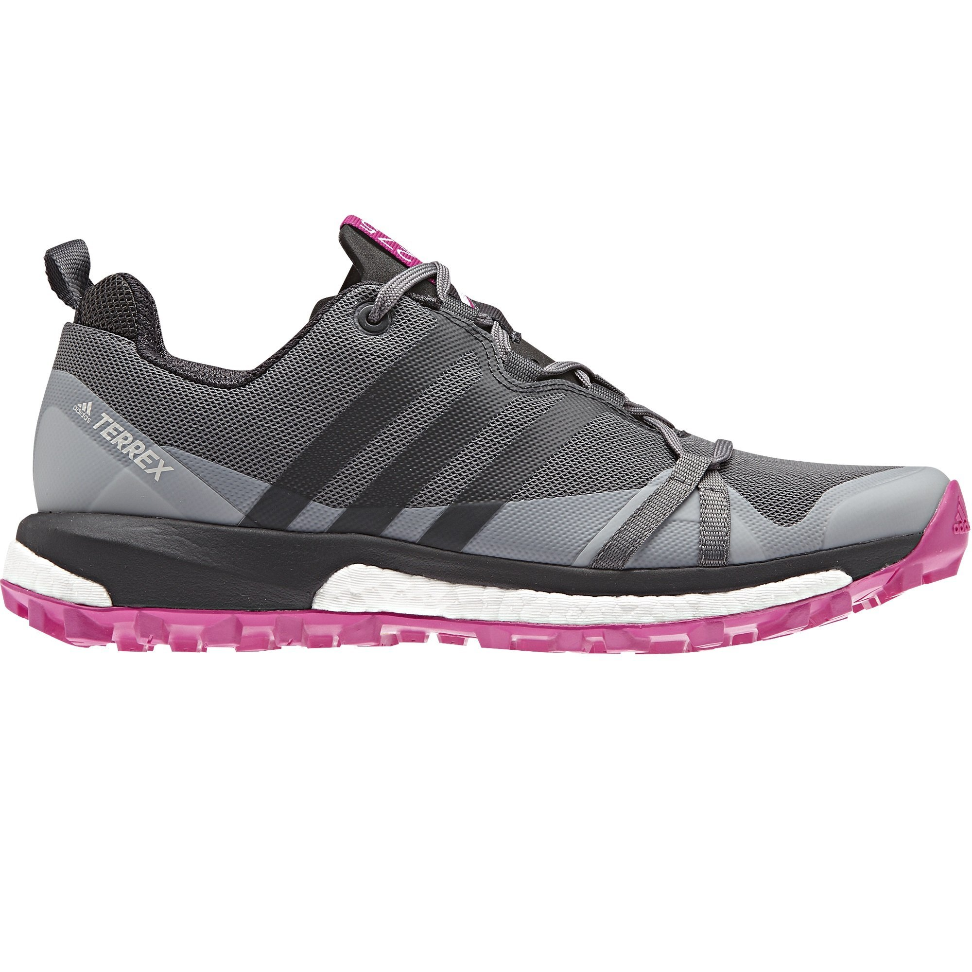 Adidas Size 5 Womens Terrex Agravic in Grey & Pink