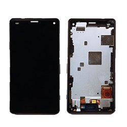 Wuxun-phone Accessory Repair Parts Lcd Screen + Touch Screen With Frame Compatible With Sony Xperia Z3 MINI Compact Color : Black