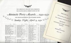 """3RD Annual Tony Awards Ray Bolger""""kiss Me Kate"""" Cole Porter new York's Waldorf Astoria 1949 Playbill And Seating Chart"""