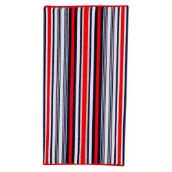 Mainstays Red Textured Stripe Beach Towel