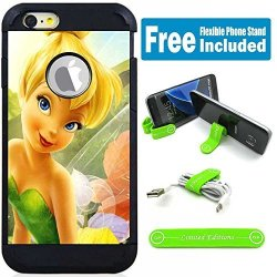 Limited Editions Apple Ipod Touch 5 6 5TH 6TH Generation Hybrid Armor Defender Case Cover With Flexible Phone Stand - Tinkerbell Sechim
