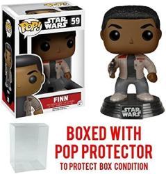 Funko Pop Star Wars: The Force Awakens - Finn 59 Vinyl Figure Bundled With Pop Box Protector Case
