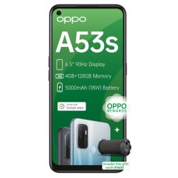 Oppo A53S Singlesim Electric Black+free Btspk