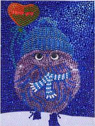 Lprtalk Diy 5D Diamond Painting By Number Kits Full Round And Special Shaped Drill Lovely Owl Crystal Resin Embroidery Dotz Kit Cross Stitch Mosaic