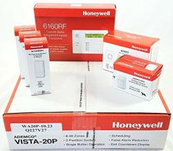 Honeywell Vista 20P Wireless Kit With A 6160RF Keypad One 5800PIR-RES Motion Sensor Three 5816WMWH Door window Contacts And A WAVE2 Siren