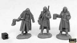 Reaper Miniatures Dreadmere Mercencaries 3 44016 Bones Black Unpainted Plastic