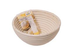 Natural Cane Round Proving Basket 20CM