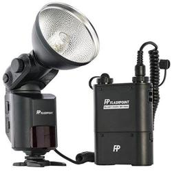 Flashpoint Streaklight 360 Ws Flash Ttl For Nikon With BP-960 Power Pack With R2 Integrated Wireless Transceiver