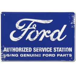 HANGTIME Tag City Automotive Signs Ford Authorized Service Retro Sign PS30125