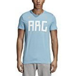 SLD Of The Adidas Group Adidas World Cup Soccer Argentina Men's Argentina Tee Small Blue