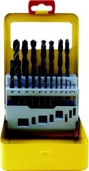 Tork Craft Drill Bit Set 19PCE Roll Forged Metal Case NR00019